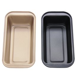 loaf pans Canada - Toast Pan Rectangular Non-stick Cheese Toast Mould Carbon Steel Loaf Toast Pan Bread Mold Baking Bakeware