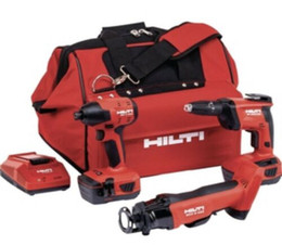 Hilti 7pc. Combo 22v. SID 4-22 SCO 6-22 SD4500-22 2x 22v Batteries Chargeur Sac on Sale