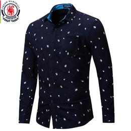 $enCountryForm.capitalKeyWord Australia - wholesale Autumn New Long Sleeve Rose Shirt Men 100% Cotton Allover Printed Shirts Male Casual Dress Shirt With Pocket
