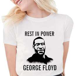 women graphic shirts Canada - ANTI-RACISM I Can't Breathe T Shirts Women Summer Justice For George Floyd t shirt Soft Cotton graphic tees Women White Tops Y200603
