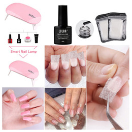 professional nail art kit set Canada - 10pcs set Professional Nail Art Set UV LED Lamp Dryer Nail Gel Polish Kit Soak Off Manicure Tool Fibers Glass Extension