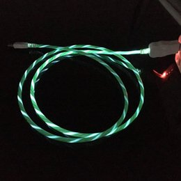 $enCountryForm.capitalKeyWord Australia - Flowing LED Visible Flashing USB Charging Charger Cable 1M 3FT Data Sync Type C Light Up Cord Lead for Samsung S7 S6 edge