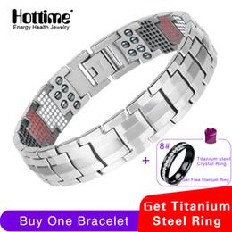 $enCountryForm.capitalKeyWord Australia - Hottime Men Jewelry Healing Magnetic Bangle Balance Health Bracelet Silver Pure Titanium Bracelets Special Design For Male 10212 Y19051002