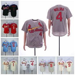 St cream online shopping - Men s St Louis O smith Jersey Cardinals Yadier Molina Stan Musial Enos Slaughter White Red Cream Baseball Jerseys