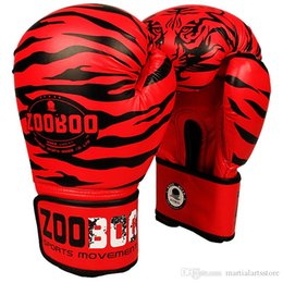 professional gear NZ - 1 pair retail sale professional muay thai kicking boxing glove pu leather boxing gear free shipping