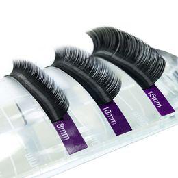 False Single Eyelashes Wholesale Australia - 15 Trays Eyelash Extensions High Quality Faux Individual Eyelashes Single Size False Eyelash Soft And Natural
