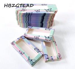 Multicolor Butterfly Print Пустая упаковка для ресниц Картон 25 мм Бумажная коробка Упаковка False Ресницы Пакет Коробка Поддельных глазных ресниц на Распродаже