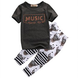 $enCountryForm.capitalKeyWord UK - Baby Boys Girls T Shirt Tops Long Pants Trousers Rompers Kids Outfit Set