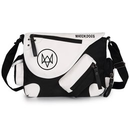Dog Zipper Australia - Watch Dogs Cosplay Messenger Hand Bag Sholder Bag High Quality Large Capacity Canvas School Casual Tote Zipper