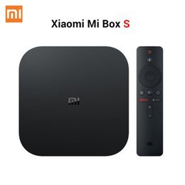 Großhandel Xiaomi Mi TV Box S 4 Android 8.1 4K HD QuadCore- intelligenter Bluetooth 2GB 8GB HDMI WiFi Set UP Boxs Media Player