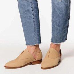 Scarpe da sera Pompe per donna Bella Donna Chunky Tacchi Bassi Cuoio Slip-on Gladiatore Chaussure Femme Zapatos Mujer Donna C02190 in Offerta