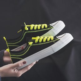 $enCountryForm.capitalKeyWord Australia - Two-color canvas shoes female 2019 summer new Korean version of the wild student low to help color matching shoes women tide