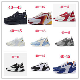 running shoes popular 2019 - 2019 New Arrive ZOOM 2K Breathable Leather Jogging Shoes High Quality Fashion Casual Running Shoes Men Women Most Popula