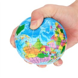 maps for kids UK - Stress Relief World Map Foam Ball Atlas Globe Palm Ball Planet Earth Ball interactive rubber balls for kid A1