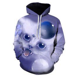 $enCountryForm.capitalKeyWord Australia - 2019 Meow Stars People Hot Sell 3d Sweatshirt Men women Hooded Hoodies Print Cat Warrior Cap Sweatshirt Tracksuits