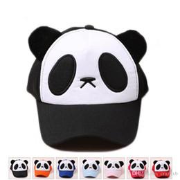 92f0e0d46a5 Yellow Panda Hat Australia - adult Children Kids Panda Snapback Sun Hat  Shade Baseball Cap Women