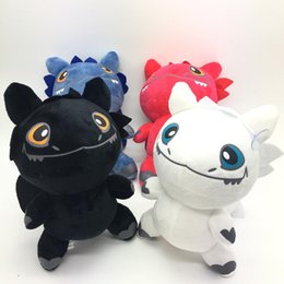 night light anime NZ - 25cm How to Train Your Dragon 3 Plush Toy Night Fury Toothless Light Fury Soft Dragon Stuffed Animals Doll 2019 New Movie C23
