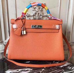 $enCountryForm.capitalKeyWord Australia - New Luxury Designer Leather Lock kelly Hand Bags Leather Women Handbags Ladies Shoulder Bags Original leather Classic Women Messenger Bag 23