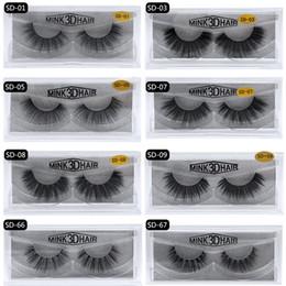 a4682ba35b4 Mink Eyelashes 3D Mink lashes 17style Eye Makeup Soft Natural false  eyelashes Extension Handmade Cross Thick Fake Eye Lashes Beauty Tools