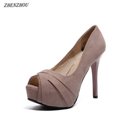 Chinese  Dress Shoes Free shipping Women Pumps Fish mouth high heels female summer 2019 new super high with sexy waterproof platform stiletto manufacturers