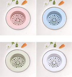 Wholesale Sink Sewer Filter Net Silicone Floor Drain Plug Water Hair Stopper Strainer Cover Kitchen Bathroom Tub Anti Clogging
