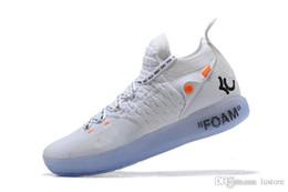 Venta al por mayor de 2018 Noticias de venta All Star Negro Blanco BHM University Red City Series KD 11 hombres zapatos de baloncesto de calidad superior zapatillas de deporte La mejor calidad lustore