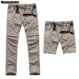00013e6a9222 2018 New Men s Quick Dry Removable Hiking Pants Outdoor Sport Summer  Breathable Thousers Camping Trekking Fishing Shorts VA035