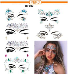 crystal resin factories NZ - 2019 New Eye Set Face Drill Diy Acrylic Forehead Face Drill Resin Crystal Drill Ornament Factory Wholesale 6pcs set