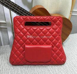 $enCountryForm.capitalKeyWord Australia - Red soft lambskin Handbag Fold Over Clutch Bag Women Large Hand Tote Bag 2018 Fashion Genuine Leather purse