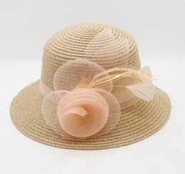 Korean Brands Hats Australia - 2018 Brand New Summer and Spring Hot Sale Girl Baby Shade Princess Hat Korean Flower Fashion Sunhat