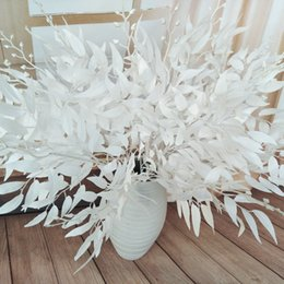 Leaves Lights Australia - 3pcs lot 5 forks simulation willow leaves vine artificial plants for wedding road arrangement fake willow plants home decoration plants