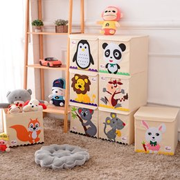 Folding storage cubes online shopping - Hot Childrens Fabric Toy Storage Bins Foldable Oxford Cloth Cube Box for Kids inch Room Tidy Organizes with lid storage