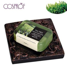 Natural Treatment For Acne Australia - Natural Tea Tree Essential Oil Handmade Soap whitening Wrinkles Bath Soap Cold deal for removing the build up of oil and dirt