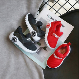 korean pedal NZ - 2019 new spring and autumn boys and girls Korean children's sports shoes mesh breathable a pedal baby shoes slippery children's shoes