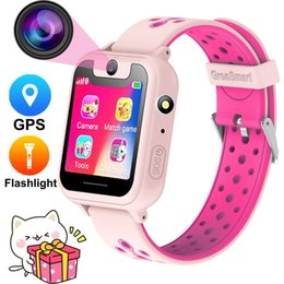 """touch screen s6 2019 - Kids S6 Smart Watch GPS Tracker Watch HD 1.54"""" Touch Screen Remote Camera Anti Lost SOS Alarm SIM Location Device k"""