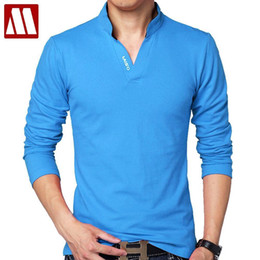 Red Hot Polo Australia - Hot Sale New Fashion Brand Men Polo Shirt Solid Color Long-sleeve Slim Fit Shirt Men Cotton Polo Shirts Casual Shirts 5xl Q190426