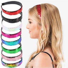 Holiday Hair Australia - Mermaid sequins hair sticks fashion women girls holiday princess headband hair accessories for 9 differnt colors