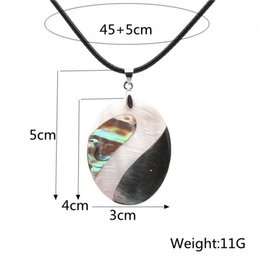 $enCountryForm.capitalKeyWord Australia - Women Necklaces Pearl Abalone Shell Necklace Handmade Black Rope Chain Charm Necklaces In Stock Clavicle Pendants Natural Conch Jewellries
