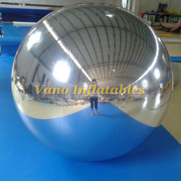 inflatable christmas balls Australia - Mirror Ball Inflatable Balloon for Decoration Christmas Party Event Advertising Silver or Gold Inflatables Free Shipping