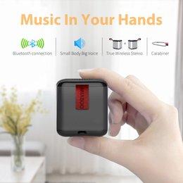 Good Audio Player Australia - Wholesale TWS portable outdoor mini Wireless Bluetooth Spaker for bicycle aluminium alloy good sound wireless bluetooth speaker with hook