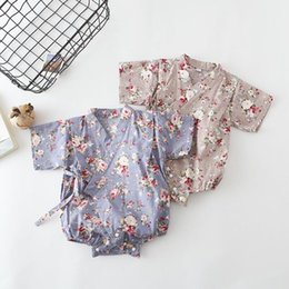 $enCountryForm.capitalKeyWord NZ - Wholesale Summer Baby Girls Boys Floral Japanese Kids Kimono Robe Rompers Casual Tracksuit Newborn Infants Bebes Jumpsuits J190524