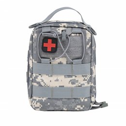 Wholesale by DHL Emergency Kits Empty Bag with Strap Medical Car First Aid Kit Waist Pack 1000D Nylon 14* 20*8cm Outdoor Camping Tactical Molle Pouch