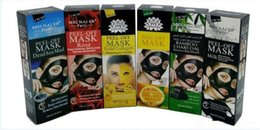 face masks peel off Canada - 6 Styles Peel Off Gold Collagen Bamboo Charcol Facial Mask Face Mask Crystal Gold Powder Deep Sea Mud Facial Mask Skin Care 50pcs