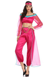 Toptan satış Cadılar Bayramı Sinema Teması Kostüm Kadın Prenses Yasemin Cosplay Aladdin Bayanlar Cosplay Seti