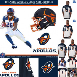 Football American Australia - Mens Orlando Apollos Jersey 3 Garrett Gilbert 12 Charles Johnson 29 Keith Reaser 63 Tre Jackson Alliance of American Football Jerseys