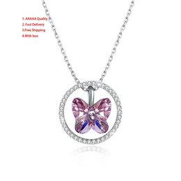 Butterfly Chains Australia - Mexican Women's Wedding Snake Chain Women's Butterfly Red Easter 925 Sterling Silver Necklace Woman Sterling Silver Pendants For W