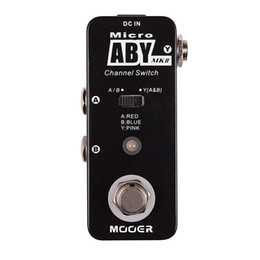 phase pedals Australia - MOOER Micro ABY MKII Channel Switch Pedal switch the one way signal to two different outputs Black