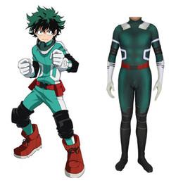 Adult Anime Games Australia - New Anime My Hero Academia Boku no Hero Academia Midoriya Izuku Cosplay Costume Kids Adult Zentai Bodysuit Jumpsuits Suit