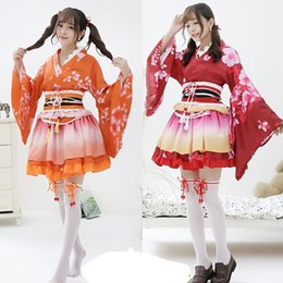 Anime costumes for women online shopping - Girls Sexy Anime love live cosplay Costume Japanese Kimono Vintage Original Tradition Yukata dress Halloween Costumes For WomenMX190921