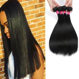 18 Inch Hair Length Straight NZ - Mix Length Brazilian Virgin Hair 3Bundles Deal Brazilian Straight Hair Weft Queen Hair Products Silky Brazilian Straight Human Weave